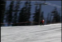Incredible Speed-bike Snow-bike Crash-Anlgle 2 Stock Footage