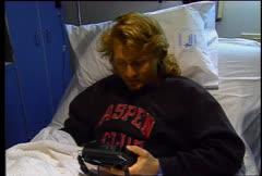 Garrett Bartelt Hospital Interview Hardcore Ski Crash Stock Footage