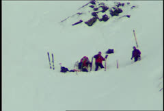 Anna Kanarowski Ski Crash Helicopter Ski Rescue Stock Footage
