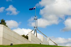 parliament house flagpole - stock photo