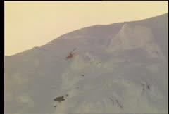 Garrett Bartelt Hardcore Ski Crash Camera 1 Stock Footage