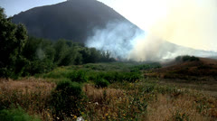 Camarillo springs fire smoke and flames from a wildfire outdoors Stock Footage