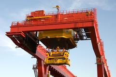 Container loader Stock Photos