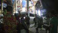 Thailand - Songkran water festival at night Stock Footage