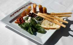 Antipasto platter Stock Photos