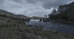 Waterfall 4 - Leenaune, Galway, Ireland - stock footage