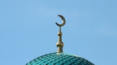 Mosque on a background of the sky. Islam Stock Footage