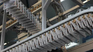 Stock Video Footage of printing newspaper, 3 vertical lines