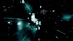 Maths equations appearing on galactic background and zooming in - stock footage