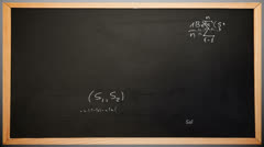 Maths appearing on chalkboard - stock footage