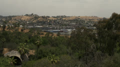 110 freeway tunnel towards Pasadena with city in distance Stock Footage