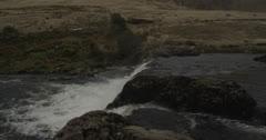 Waterfall 7 (top view) - Leenaune, Galway, Ireland - stock footage