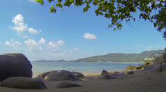 Video 1920x1080. small tropical beach without people Stock Footage
