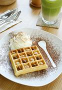 Gourmet waffle Stock Photos