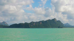 Limestone cliffs in the bay. thailand, krabi Stock Footage