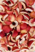 white peaches - stock photo