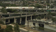 I-5 and 110 freeways crossover each other Stock Footage
