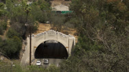 Tunnels along the 110 freeway Stock Footage