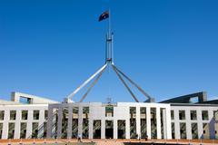 parliament house, canberra, australia - stock photo