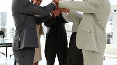 Business team bonding together Stock Footage