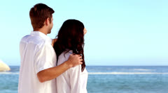 Couple admiring the view together Stock Footage