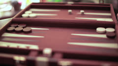 Backgammon time lapse Stock Footage