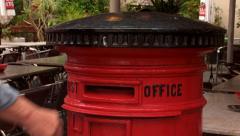 British post box Stock Footage