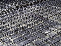 reinforcement metal framework for concrete pouring. - stock photo