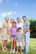 Portrait of multi-generation family - stock photo