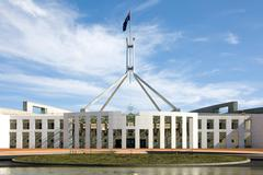 Parliament house, canberra, australia Stock Photos