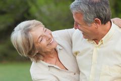Older couple enjoying time together - stock photo