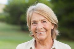 Smiling older woman - stock photo