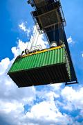 container box export - stock photo