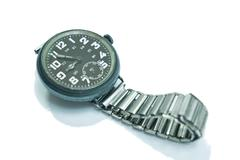 antique wrist watch - stock photo