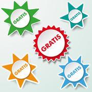 Stock Illustration of star labels gratis