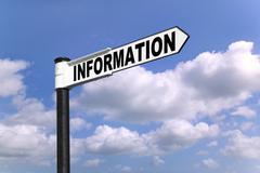 Information signpost Stock Photos