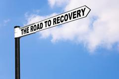 the road to recovery - stock photo
