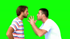 Man about to fight another man on green screen Stock Footage
