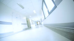 Hospital Corridor Busy With Staff Patients Stock Footage