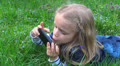 Child Playing on Touchscreen Phone, Little Girl Plays with Smartphone, Children HD Footage
