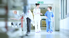 Patients Hospital Care Multi Ethnic Staff - stock footage