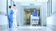 Medical Staff Working Busy Hospital Facility Stock Footage