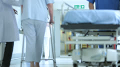 Elderly Patient Busy Medical Care Facility Stock Footage