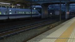 Bullet train,Shinkansen,Station Stock Footage