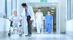 Hospital Patients Receiving Care Medical Staff - stock footage