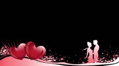 Valentines lowerthird 01 03+alpha Stock Footage