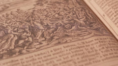 Medieval book Stock Footage