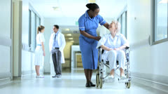 Staff Patient Busy Medical Care Facility Stock Footage