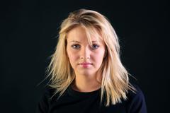 Stock Photo of beautiful blonde portrait