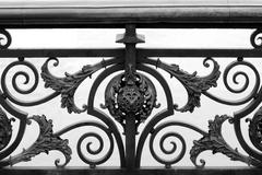 Bridge railing design, paris, france Stock Photos